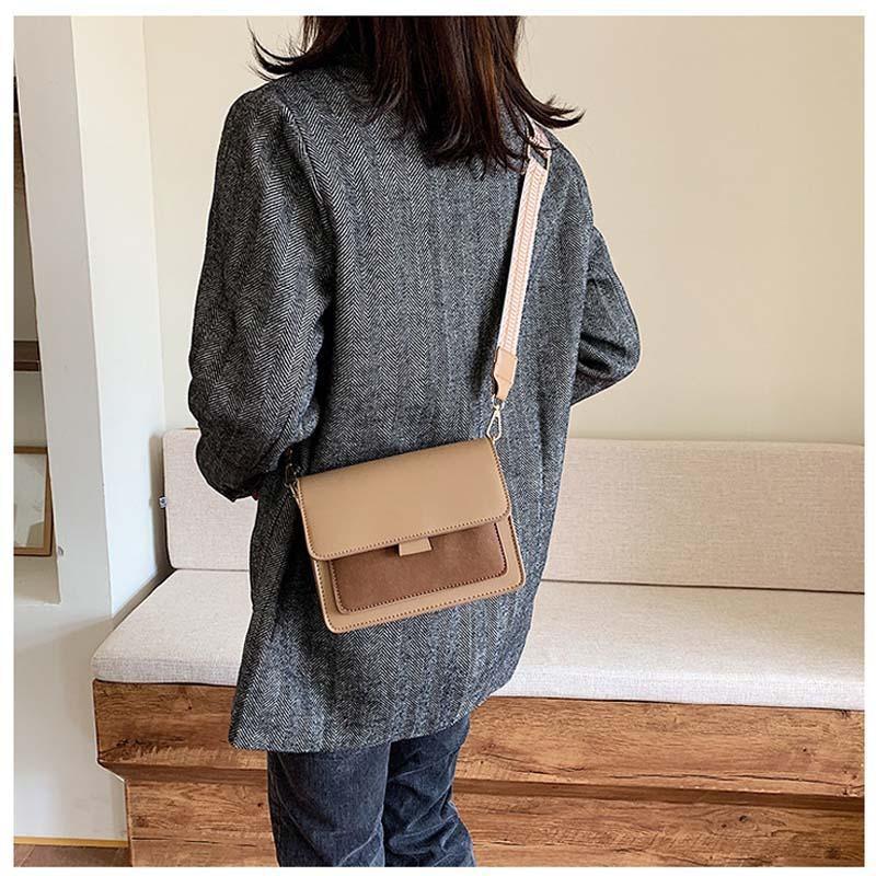 Сумка женская стильная с текстильным ремешком (черная) - Фото 3