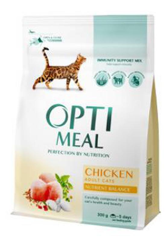 OptiMeal (Оптимил) корм для кошек с курицей , говядиной 10кг.