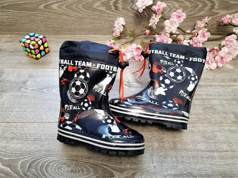 Модні резинові чоботи на баєчці, ризовкі, резиновые сапоги
