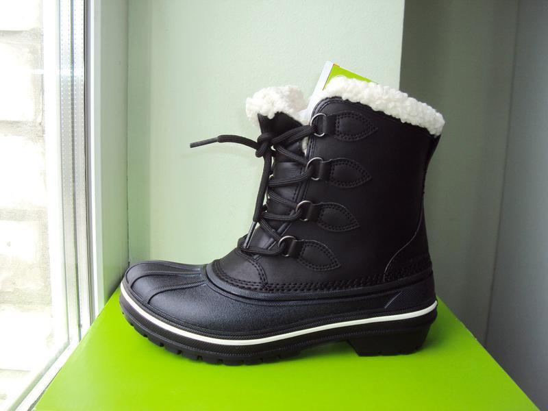 Crocs AllCast (22,5см). Водонепроницаемые ботинки. Черные. Оригин