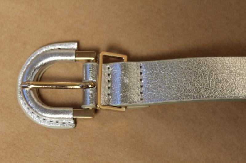 H&m серебряный ремень серебристый пояс женский - Фото 5