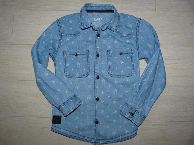 Джинсовая рубашка rebel 6-7 лет