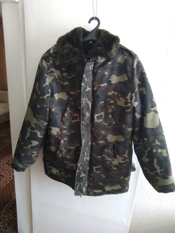 Куртка мужская камуфляж - Фото 4