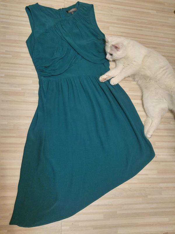 «розвантажуюсь» стильное платье с ассиметричным низом. - Фото 4
