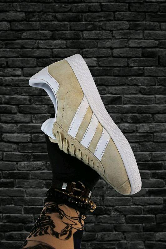 Adidas Gazelle Beige White - Фото 3