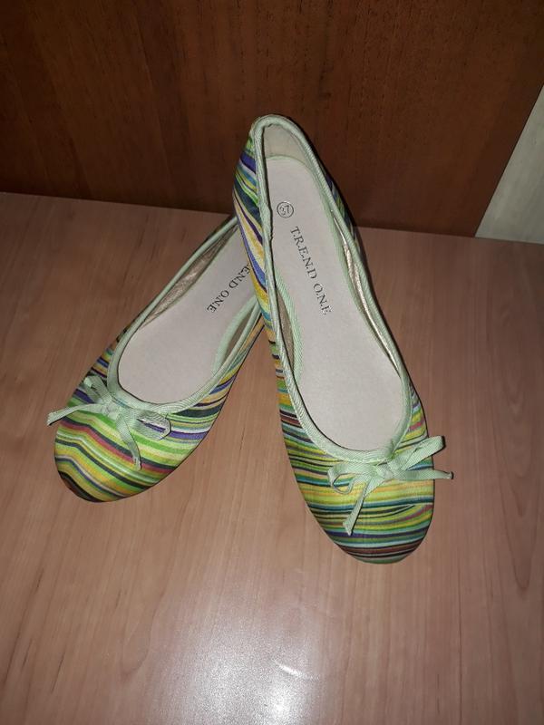 Балетки trend one 👠 туфлі зелені ментолові салатові різнокольо...