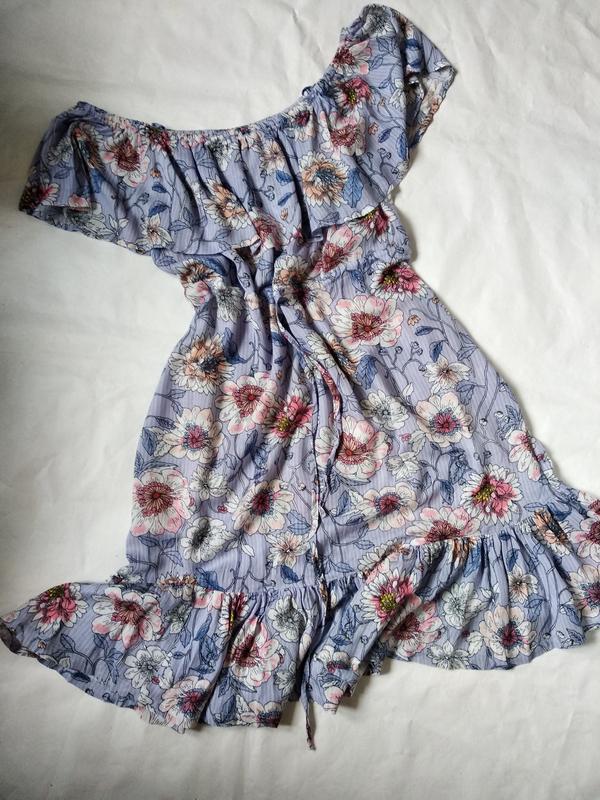 Легкое платье сарафан с воланами