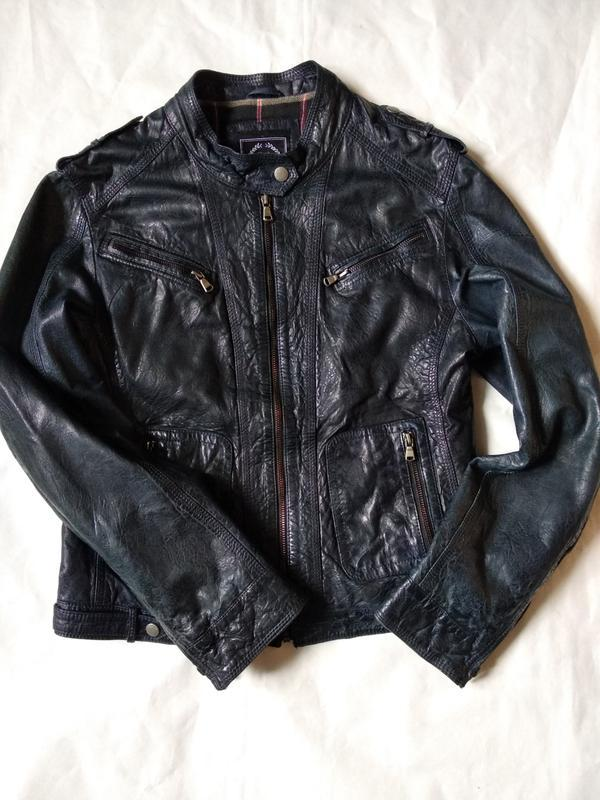 Стильная кожаная куртка косуха мото gipsy