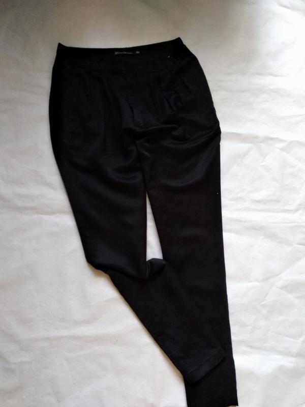 Брюки штаны с складками и карманами