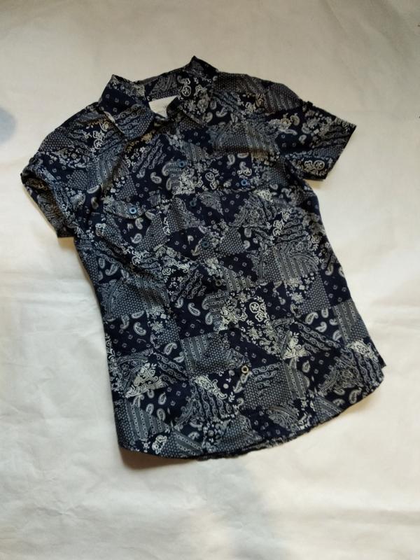 Хлопковая блузка рубашка h&m