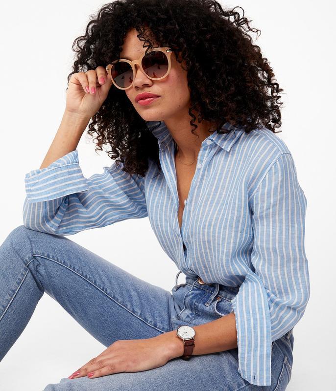 Стильная блузка рубашка в полоску
