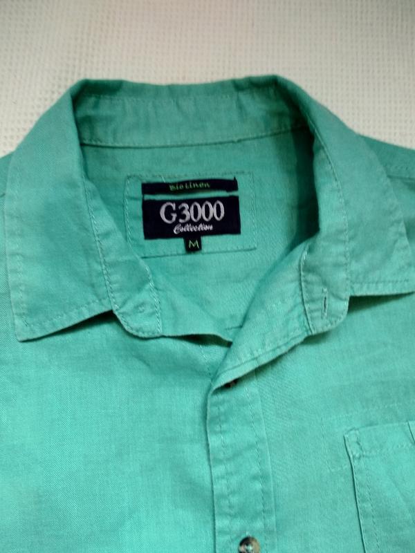 Стильная летняя мужская рубашка тениска из льна - Фото 3