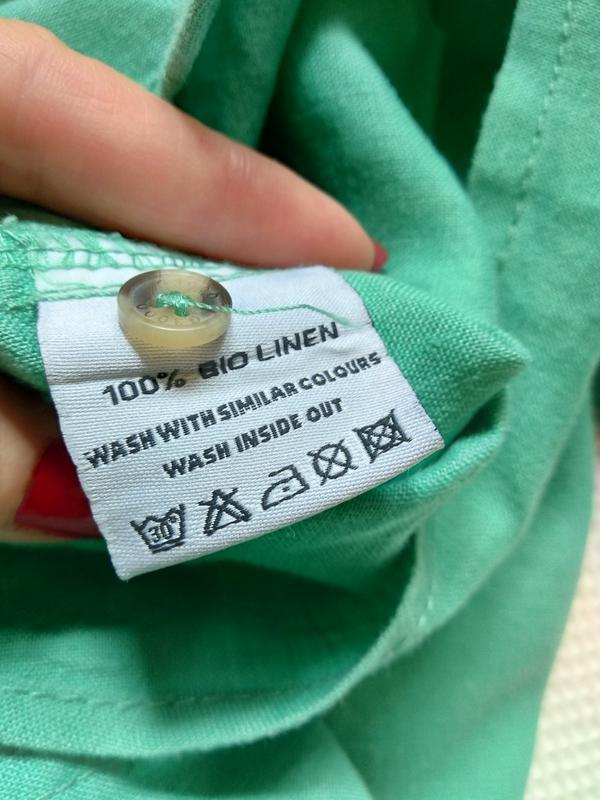Стильная летняя мужская рубашка тениска из льна - Фото 5