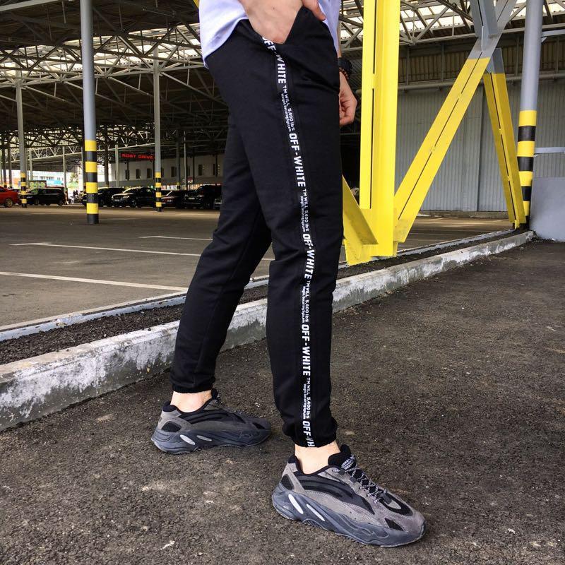 Мужские спортивные штаны чёрные Off-White