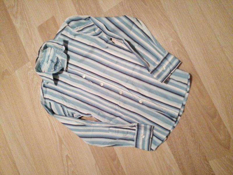 Лёгкая рубашка в полоску на 9лет