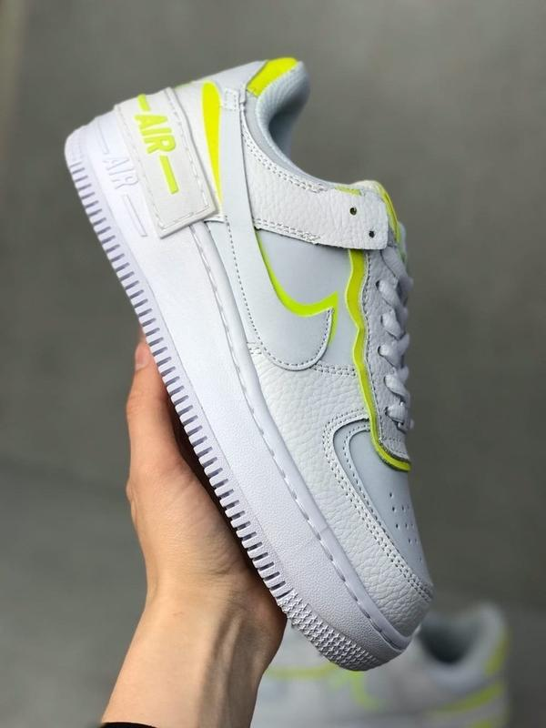 Nike air force shadow white белые женские кроссовки