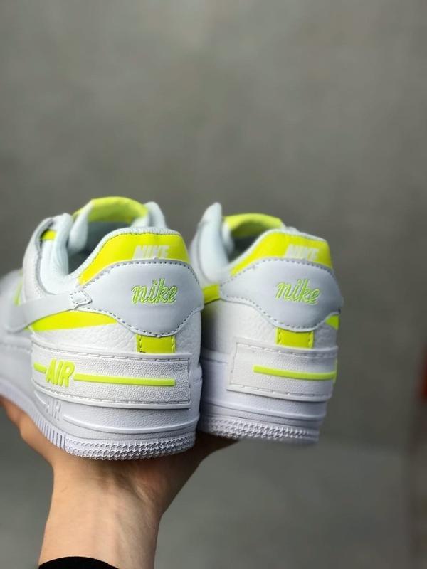 Nike air force shadow white белые женские кроссовки - Фото 2