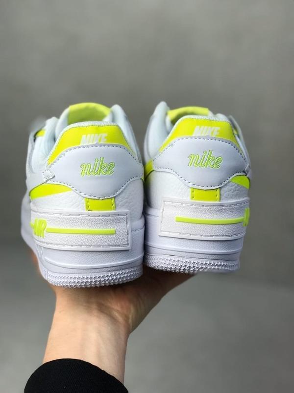 Nike air force shadow white белые женские кроссовки - Фото 3