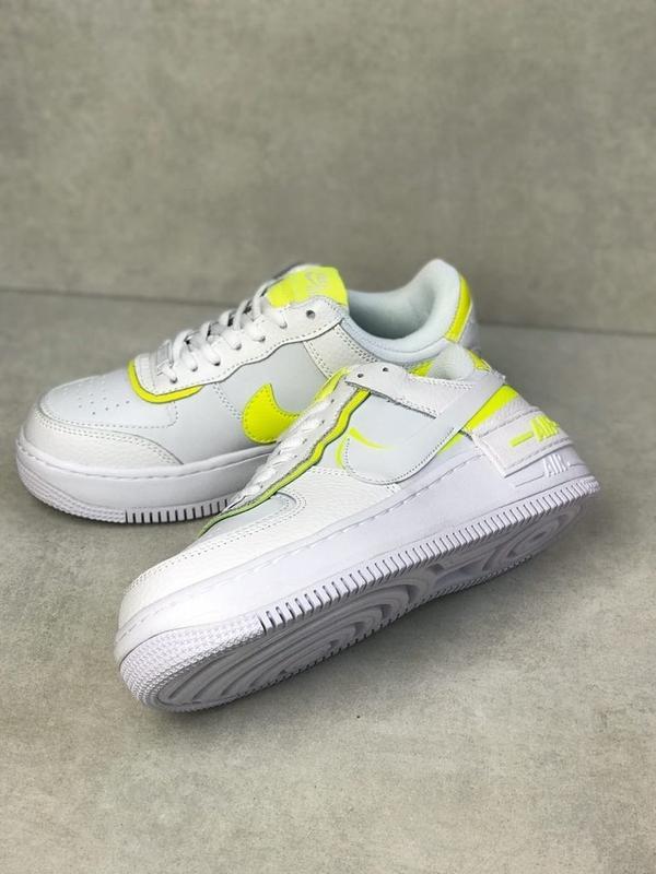 Nike air force shadow white белые женские кроссовки - Фото 4