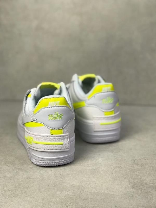 Nike air force shadow white белые женские кроссовки - Фото 6