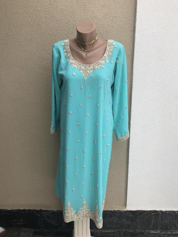 Восточное,этно платье,туника,эксклюзив.золотой вышивкой,ручной...