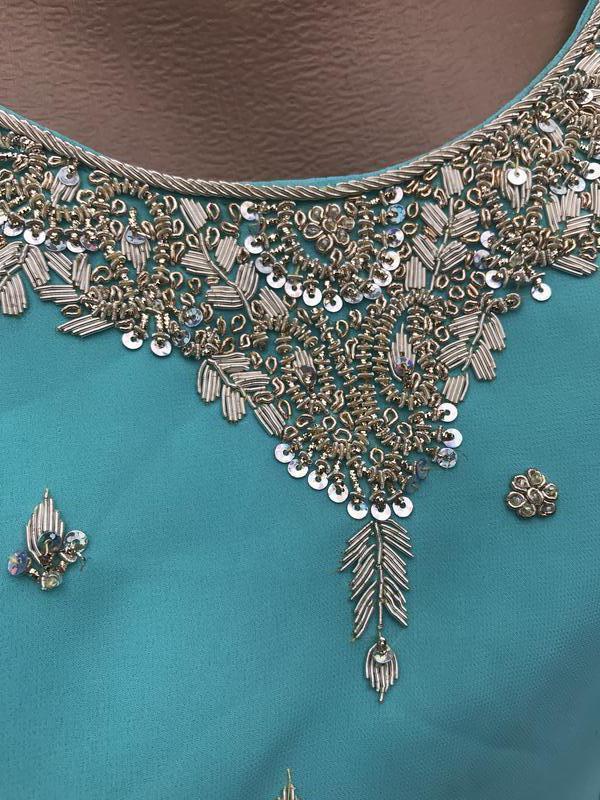 Восточное,этно платье,туника,эксклюзив.золотой вышивкой,ручной... - Фото 4