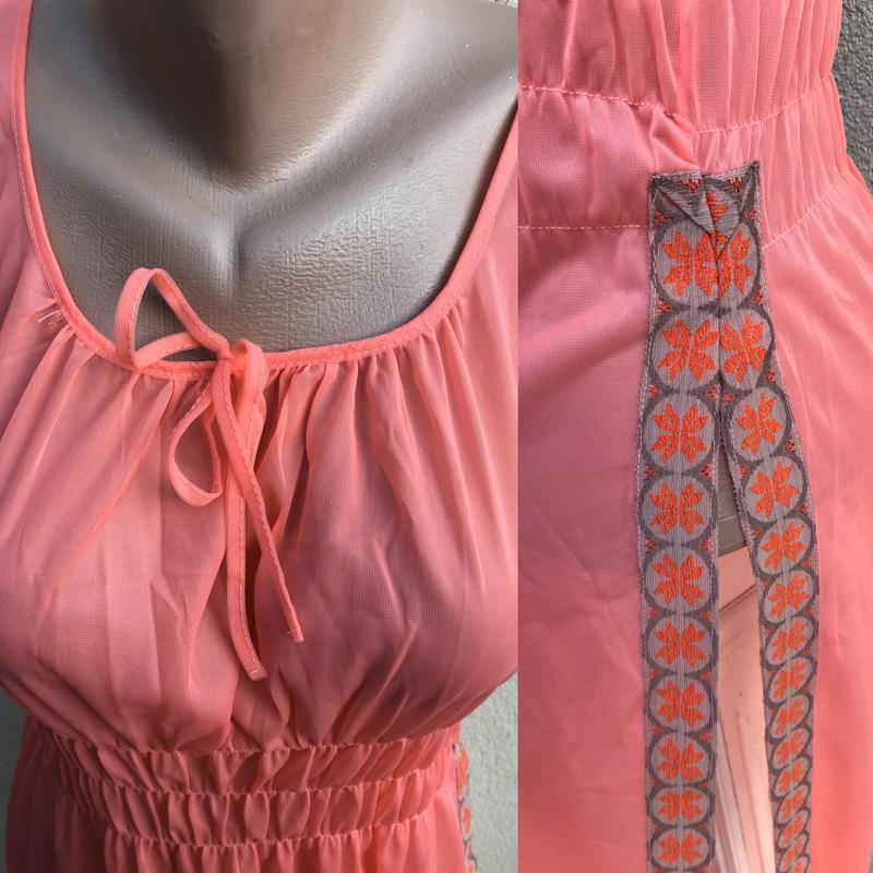 Пляжное платье, сарафан,ночное,прозрачное,длинное,разрез по бо... - Фото 3