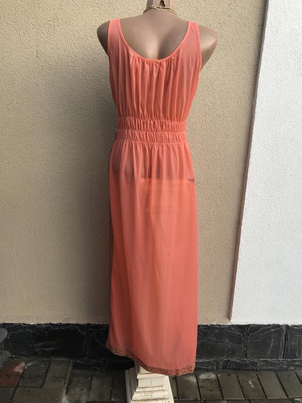 Пляжное платье, сарафан,ночное,прозрачное,длинное,разрез по бо... - Фото 4
