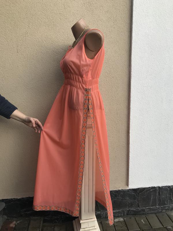 Пляжное платье, сарафан,ночное,прозрачное,длинное,разрез по бо... - Фото 5