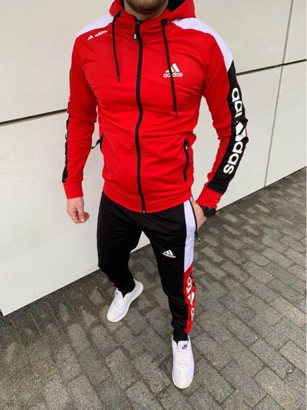 Спортивный костюм Adidas красный мужской спортивный костюм Адидас