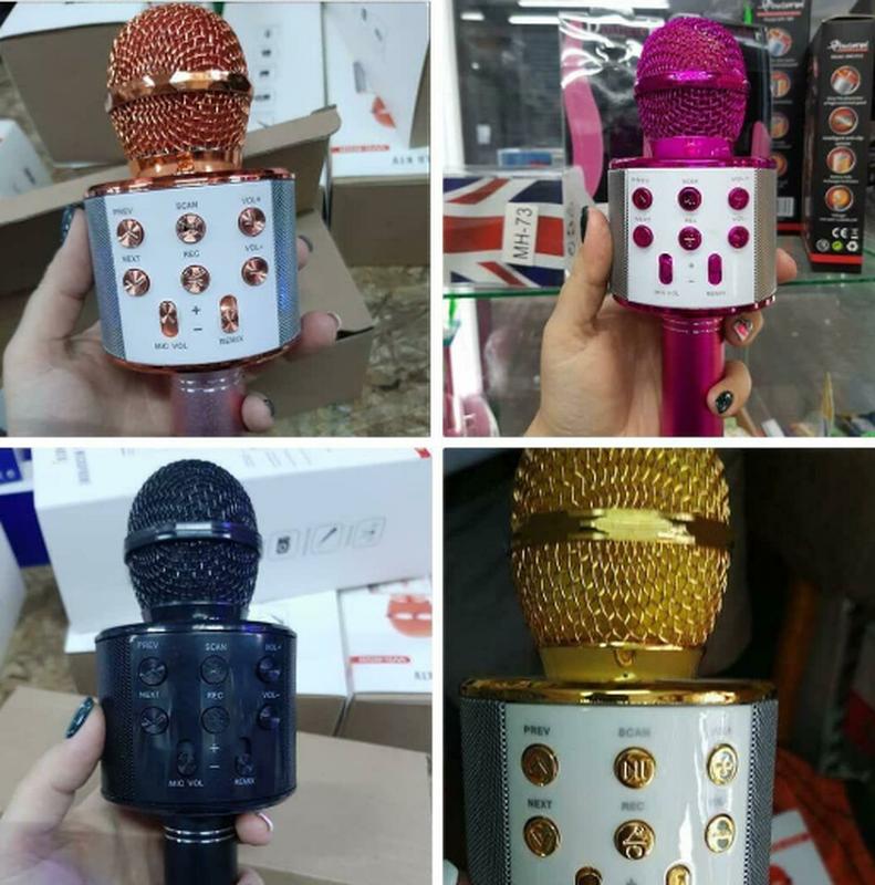 Караоке микрофон Bluetooth Колонка WS с Микрофоном для караоке - Фото 12