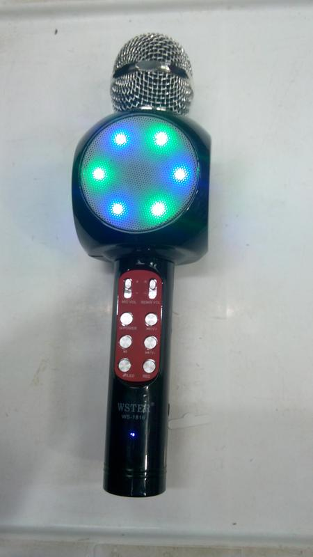 Караоке микрофон Bluetooth Колонка WS с Микрофоном для караоке - Фото 13