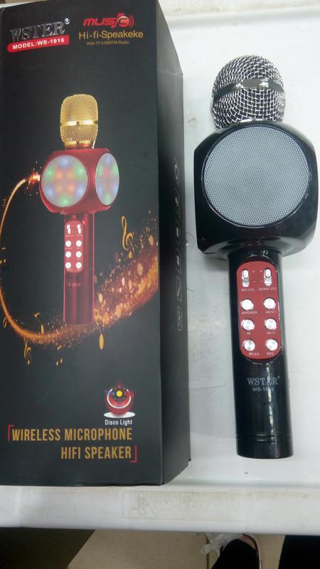 Караоке микрофон Bluetooth Колонка WS с Микрофоном для караоке - Фото 14