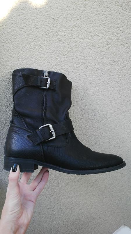 Кожаные ботинки,сапоги без застежки,из 100% кожи,39р(26см стел... - Фото 2