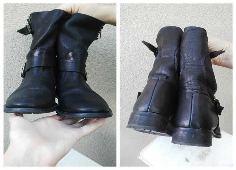 Кожаные ботинки,сапоги без застежки,из 100% кожи,39р(26см стел... - Фото 3