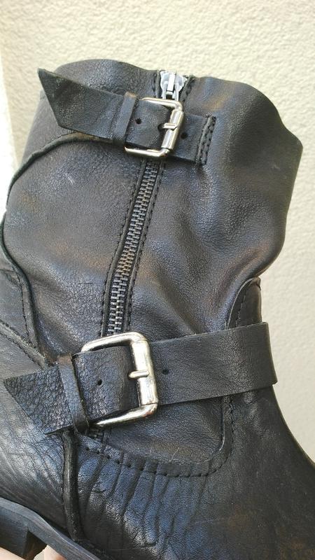 Кожаные ботинки,сапоги без застежки,из 100% кожи,39р(26см стел... - Фото 4