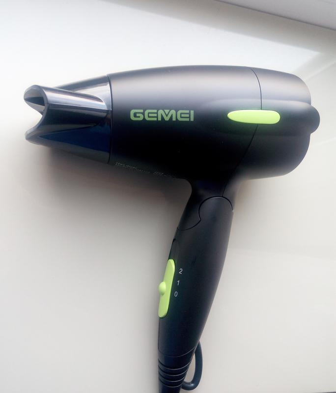 Универсальный фен gemei gm-128 складной фен. дорожный фен - Фото 9