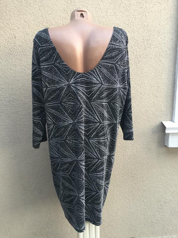 Красивое,вечернее платье серебристым,блестящим принтом,открыта... - Фото 4
