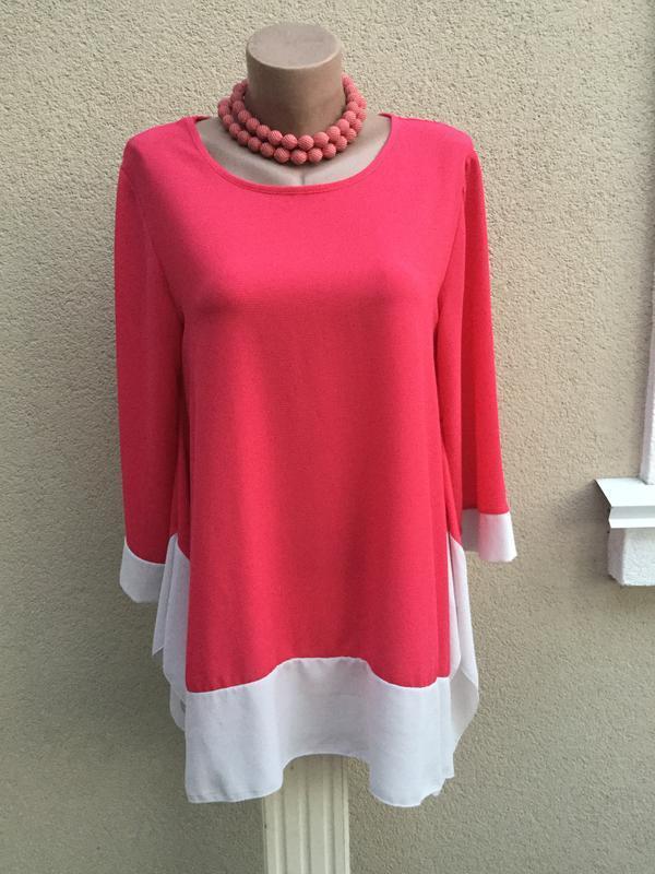 Ассиметричная блуза,туника,рубашка,большой размер,италия