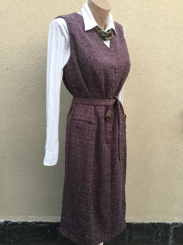 Сарафан офисный,платье под пояс,вискоза,большой размер,daxon, - Фото 2