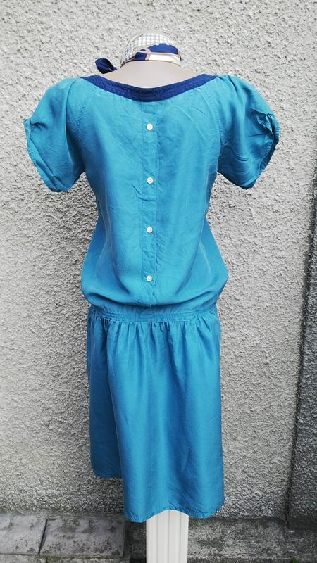 Шелковое,легкое платье(без подкладки) ретро стиль, с застежкой... - Фото 2