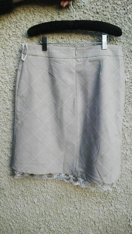 Красивая юбка в в клетку(на подкладке) с кружевом по низу,виск... - Фото 4