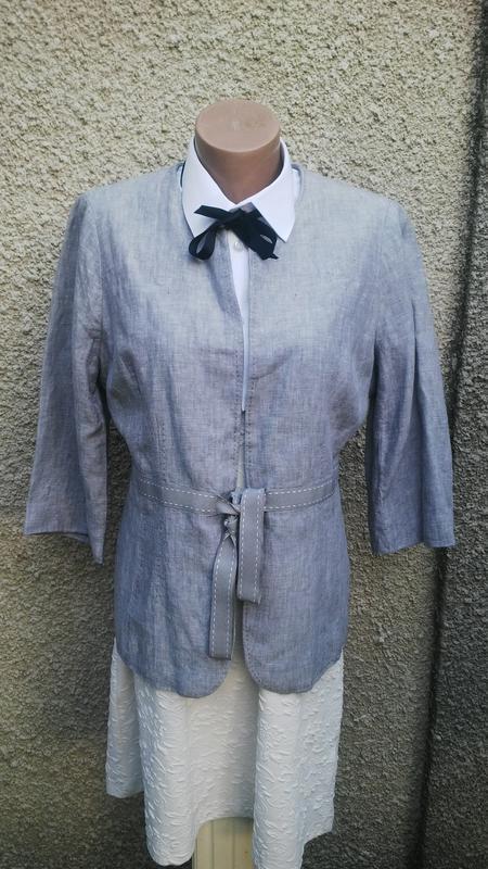 Красивый,женственный льняной жакет(пиджак)100% лен,большой размер