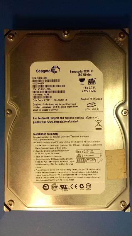 Жёсткий диск SEAGATE 250 GB IDE