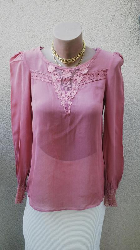 Новая,красивая,кружевная блузка в  винтажном(ретро)стиле new look