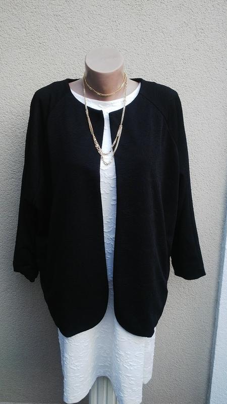 Новый,черный,фактурный кардиган,жакет,пиджак без застежки(подк...