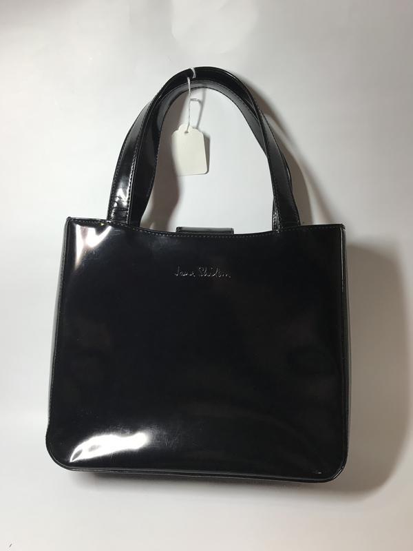 Лаковая,черная сумка, кожа 100%, jane shilton