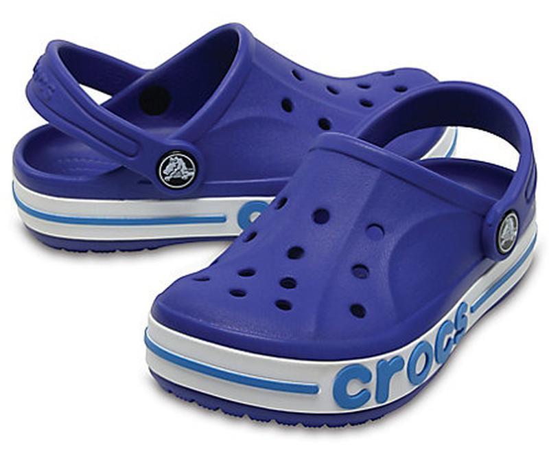 Босоножки клоги crocs kids bayaband clogs кроксы для мальчика ...