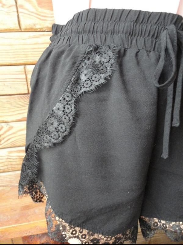 Легкие летние шорты Vero moda с кружевом на высокой посадке - Фото 2