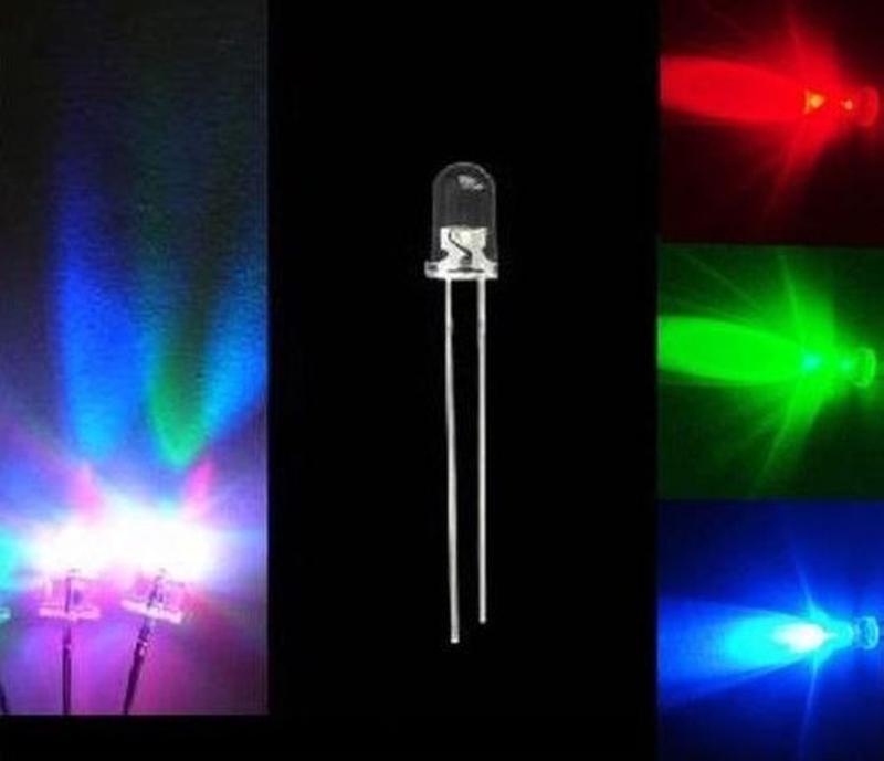 Повільні світлодіоди 3 мм 2контакти Slow RGB Flash Red Green Blue